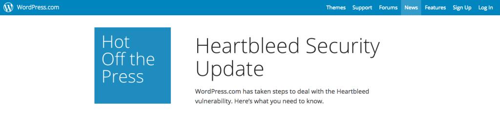 wordpress security update heartbleed