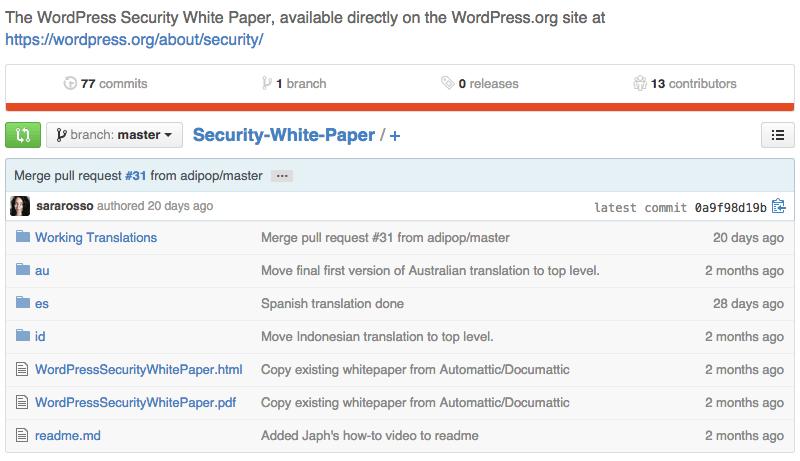 wordpress security whitepaper