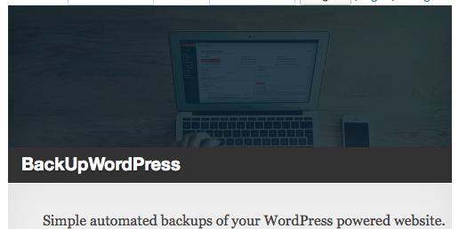Corporate blog design - BackUpWordPress - Automated backup