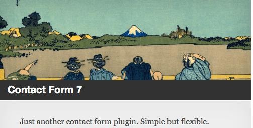 Corporate blog design - Contact Form 7