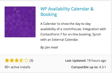 Calendar & Booking Plugin for online lead generation for hotel websites