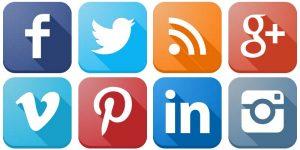 Social Media icons for Real Estate Website