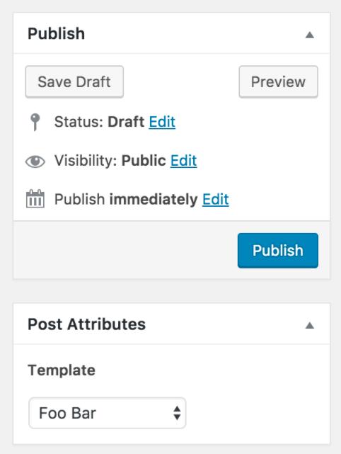 WordPress 4.7 custom post template