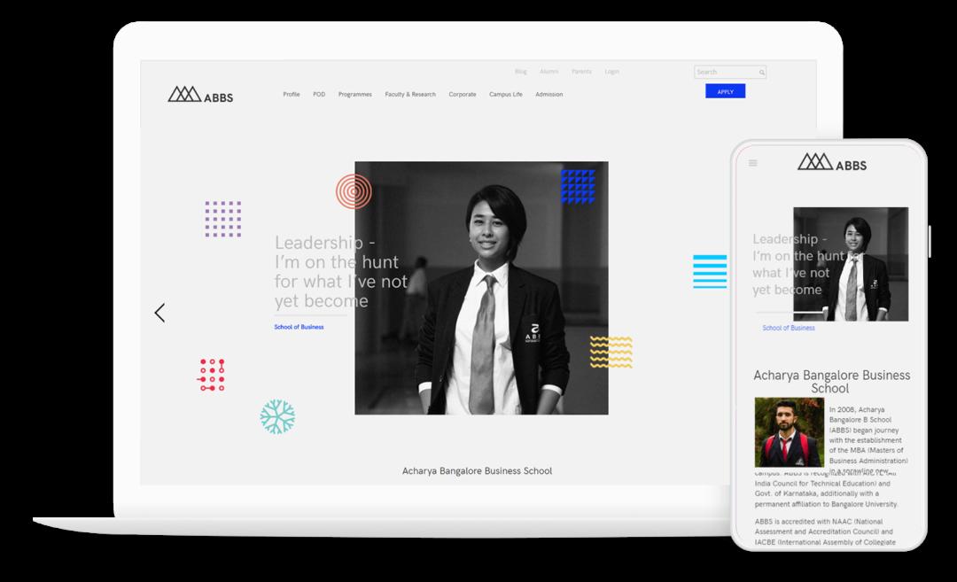 Modern Business School Website using WordPress