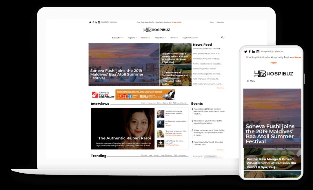 CMS Solution for a Hospitality Media Website