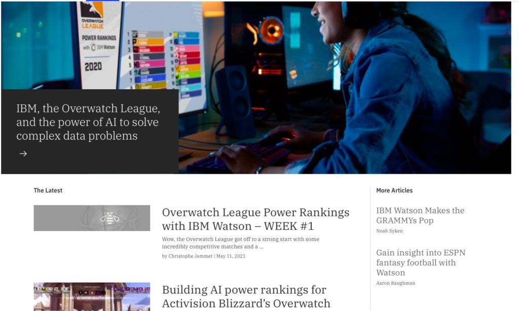 IBM's blog page
