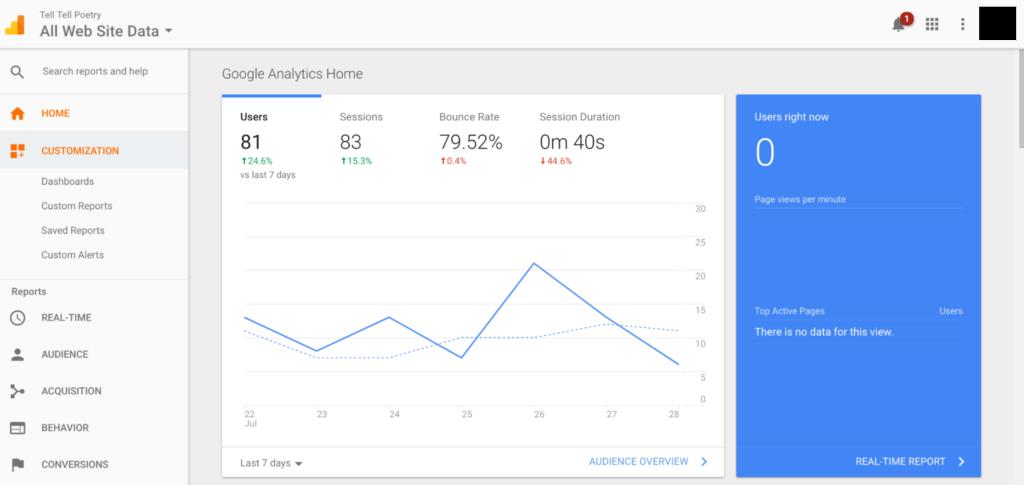 Google Analytics Dashboard - Demo