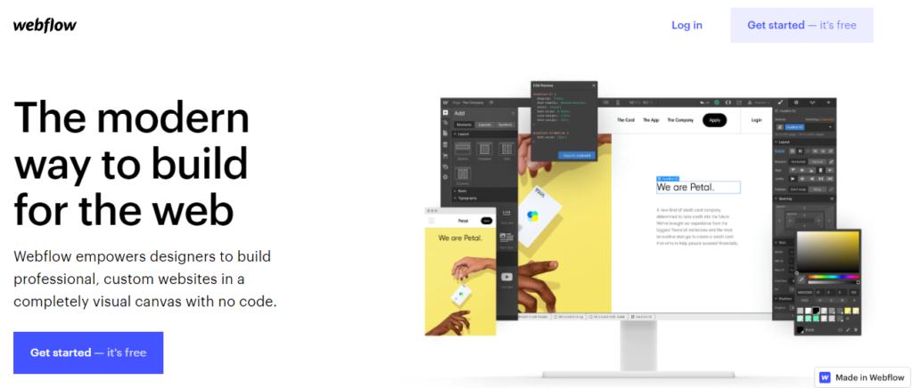 Webflow interface